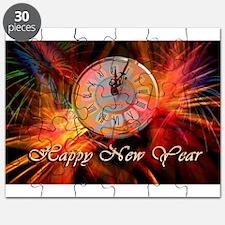 Happy New Year Clock Puzzle
