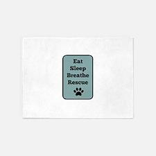 Eat, Sleep, Breathe, Rescue 5'x7'Area Rug