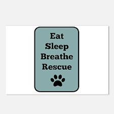 Eat, Sleep, Breathe, Resc Postcards (Package of 8)