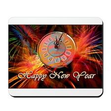 Happy New Year Clock Mousepad