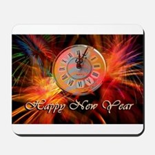Happy New Year Clock Mousepad