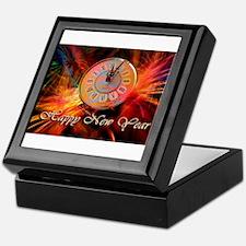 Happy New Year Clock Keepsake Box