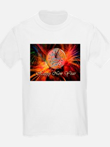 Happy New Year Clock T-Shirt