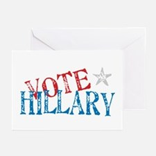 Vote Hillary Clinton 2008 Greeting Cards (Pk of 10