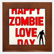Zombie Love Framed Tile