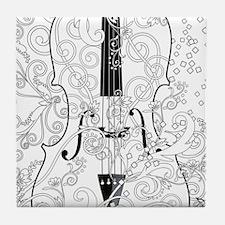 Adult Coloring Canvas Violin Coloring Tile Coaster