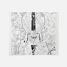 Adult Coloring Canvas Violin Colorin Throw Blanket