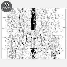 Adult Coloring Canvas Violin Coloring Poste Puzzle