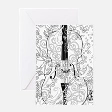 Adult Coloring Canvas Violin Colori Greeting Cards