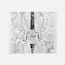 Adult Coloring Music Poster Violin B Throw Blanket