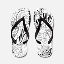 Adult Coloring Guitar Piano Music Art b Flip Flops