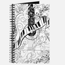 Adult Coloring Guitar Piano Music Art by J Journal