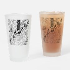 Adult Coloring Guitar Piano Music A Drinking Glass
