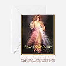 Cute Trust jesus Greeting Card