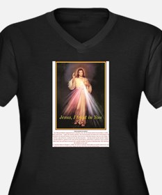 the chaplet of divine mercy jesu Plus Size T-Shirt