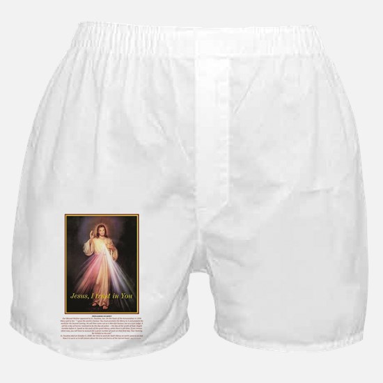 the chaplet of divine mercy jesus i t Boxer Shorts