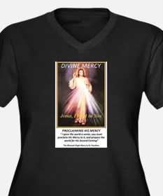 divine mercy jesus i trust in yo Plus Size T-Shirt
