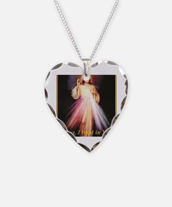 Cute Jesus Necklace Heart Charm