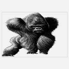 Cute African gorilla Wall Art