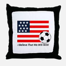 USA Soccer Throw Pillow