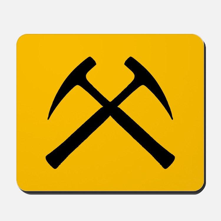 Crossed Rock Hammers Mousepad