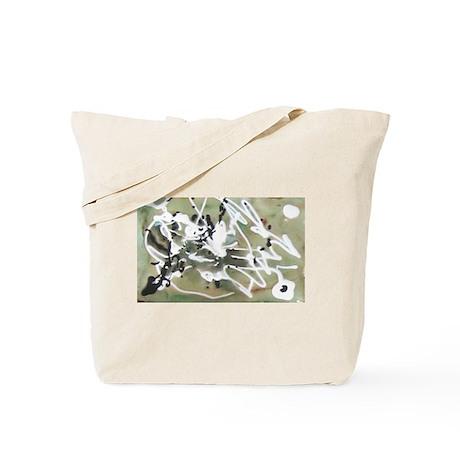 Green Splat Tote Bag