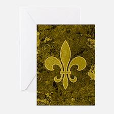 Fleur de lis Gold Greeting Cards