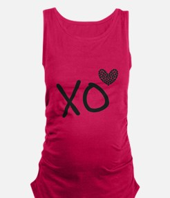 Xo hearts for Love and Valentine's Day Maternity T