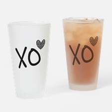 Xo hearts for Love and Valentine's Day Drinking Gl