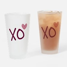 Xo hearts (pink) for Valentine's Day Drinking Glas