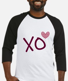 Xo hearts (pink) for Valentine's Day Baseball Jers