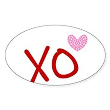 Xo Hearts (red) Love & Valentine's Decal