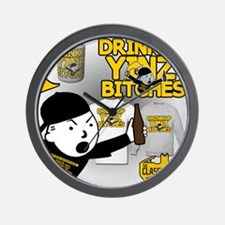 Drink up Yinz Bitches 2016 Wall Clock