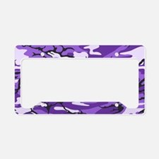 Purple Camouflage License Plate Holder