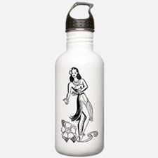 Cute Hula dancer Water Bottle