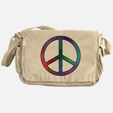 Multicolored Peace Sign Messenger Bag