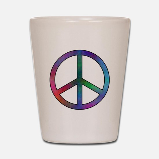 Multicolored Peace Sign Shot Glass
