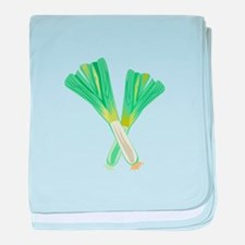 Green Onions baby blanket