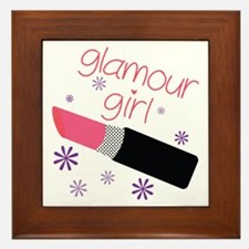 Glamour Girl Framed Tile