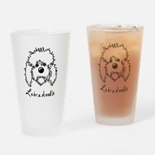KiniArt Labradoodle Art Drinking Glass