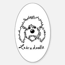 KiniArt Labradoodle Art Sticker (Oval)