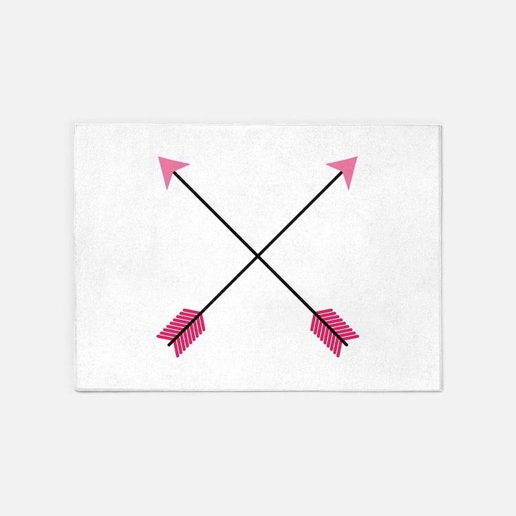 Crossed Arrows 5'x7'Area Rug