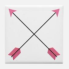 Crossed Arrows Tile Coaster