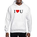 I Love U Hooded Sweatshirt