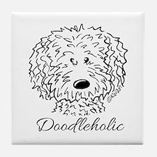 KiniArt Doodleholic Tile Coaster