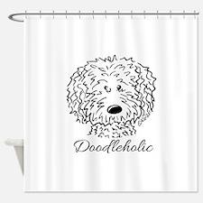KiniArt Doodleholic Shower Curtain