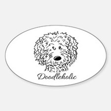 KiniArt Doodleholic Sticker (Oval)