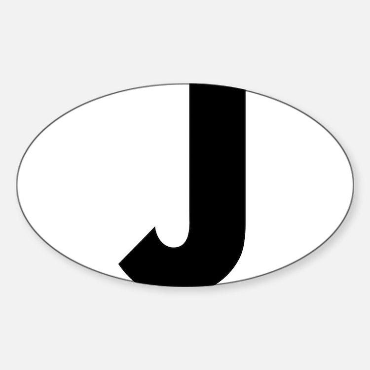 Cute J Sticker (Oval)
