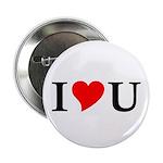 """I Love U 2.25"""" Button (100 pack)"""