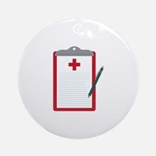 Medical Notes Round Ornament